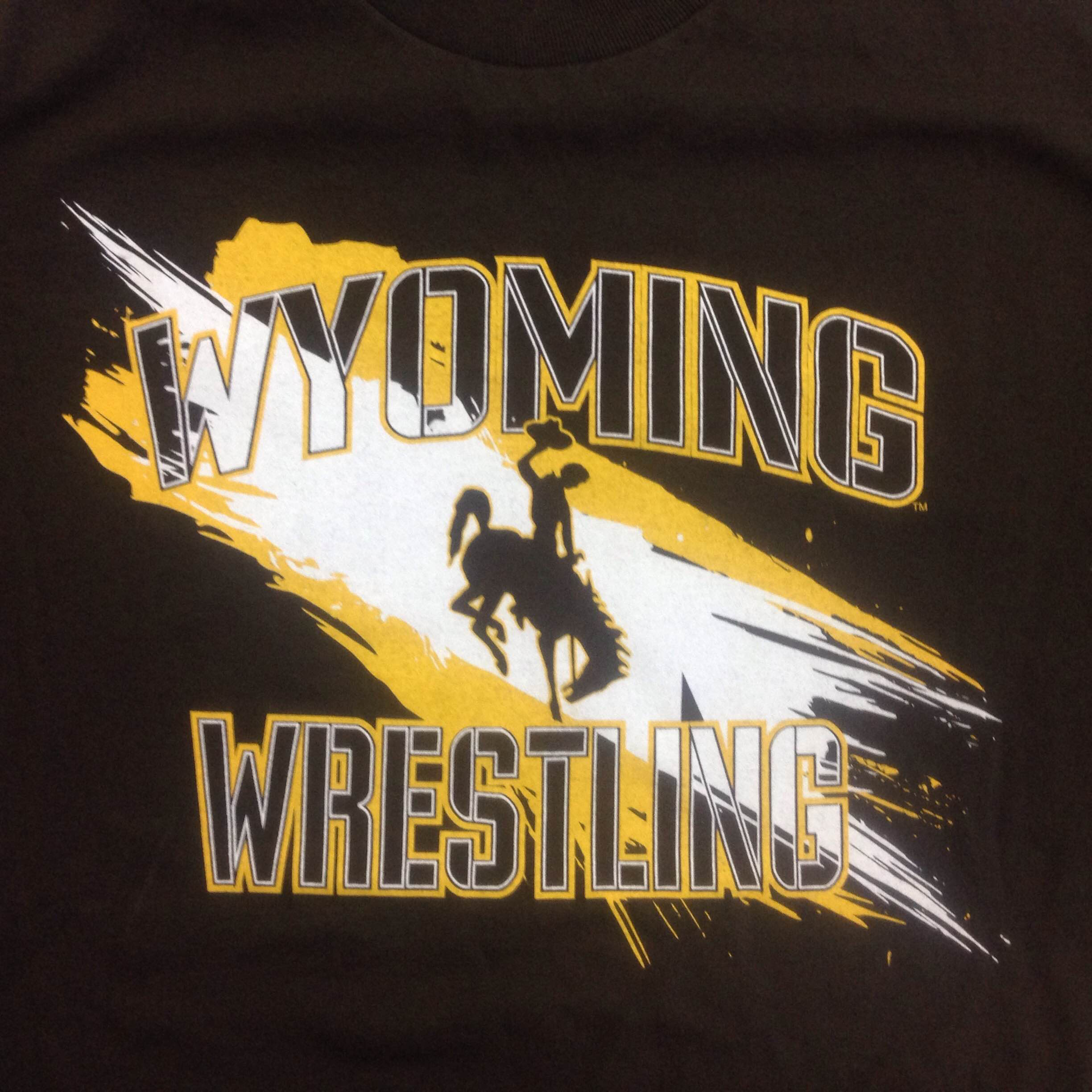 University Of Wyoming Wrestling T Shirt 3 Time Gear