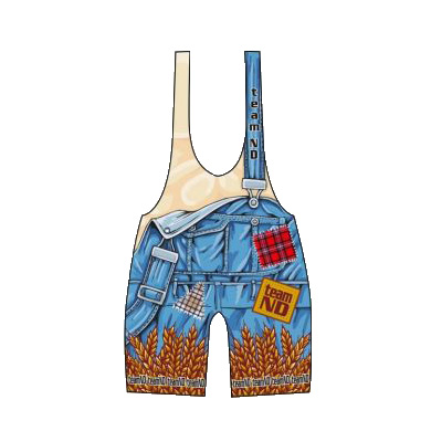 3X Gear Team North Dakota Bib Overall singlet