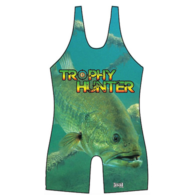 "3X Gear TROPHY HUNTER ""GONE FISHIN"" SERIES WRESTLING SINGLET"