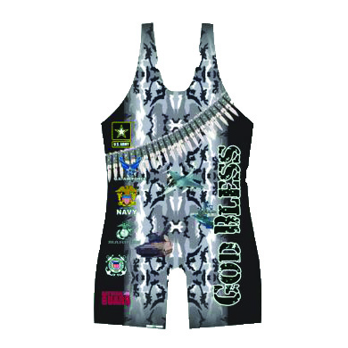 3X Gear God Bless Our Military Singlet