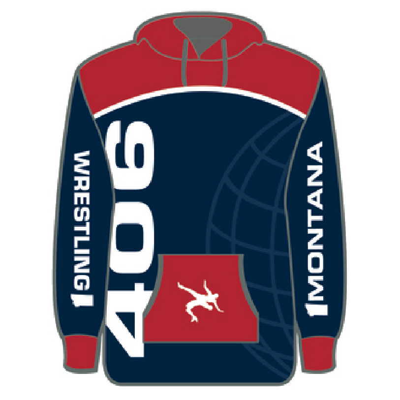 Montana 406 Wrestling Sublimated Hoodie - 3 Time Gear