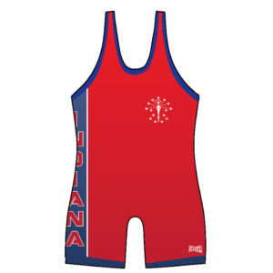 Indiana Red Single Side Panel Singlet