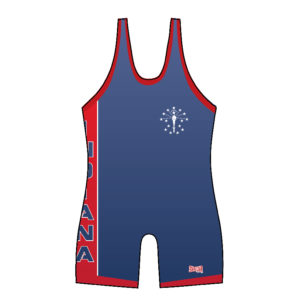 Indiana Blue Single Side Panel Singlet