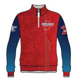 Indiana Wrestling Sublimated 1/4 Zip Pullover