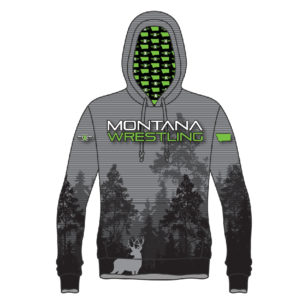 Montana Wrestling 406 Sublimated Hoodie