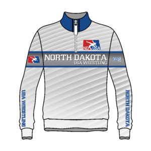 North Dakota USA Wrestling Sublimated 1/4 Zip Pullover
