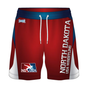 North Dakota USA Wrestling Sublimated Fight Shorts