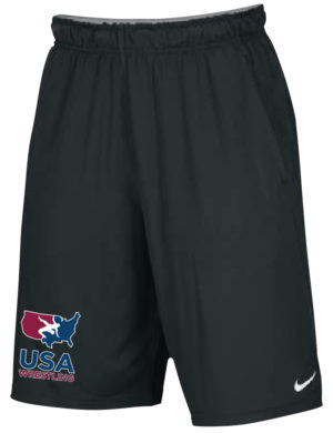 NIKE MEN'S USAWR 2 POCKET FLY SHORT - BLACK