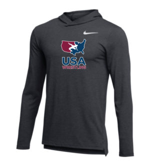 NIKE MEN'S USAWR HYPER DRI-FIT BREATHE HOODIE - ANTHRACITE/WHITE