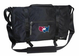 NIKE USAWR MESSENGER BAG - BLACK