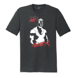 "VISION QUEST ""SHUTE"" MAT MONSTER TEE - CHARCOAL"