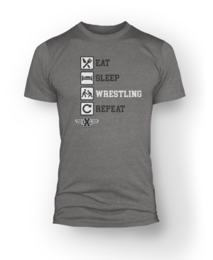 Eat Sleep Wrestling Tee